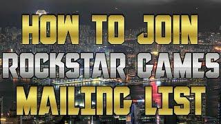 How to Join Rockstar Games Mailing List & Social Club (GTA 5 Free Money Bonus)