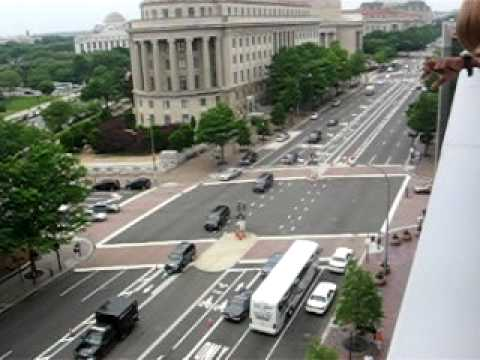 Hamid Karzai Motorcade in D.C. on the way to Peace Talks with Obama