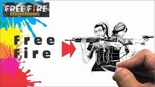 Intip Cara Menggambar Nikita Andrew dari Kata Free Fire  # Part 01