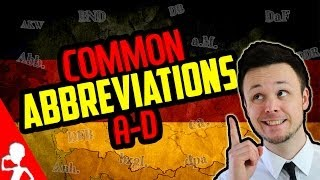 Common Abbreviations A-D | Learn German for Beginners | Lesson 17