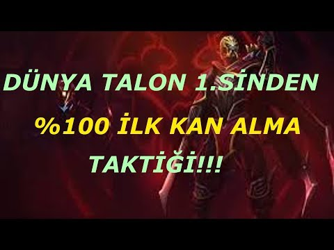 Dünya Talon 1.sinden %100 İlk Kan Taktiği (Tüm Şampiyonlara Karşı)