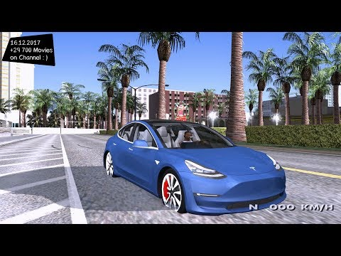 2018 TESLA Model 3 High Quality Grand Theft Auto San Andreas GTA SA MOD