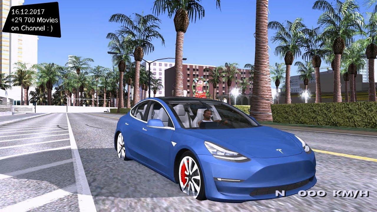2018 Tesla Model 3 High Quality Grand Theft Auto San Andreas Gta Sa Mod