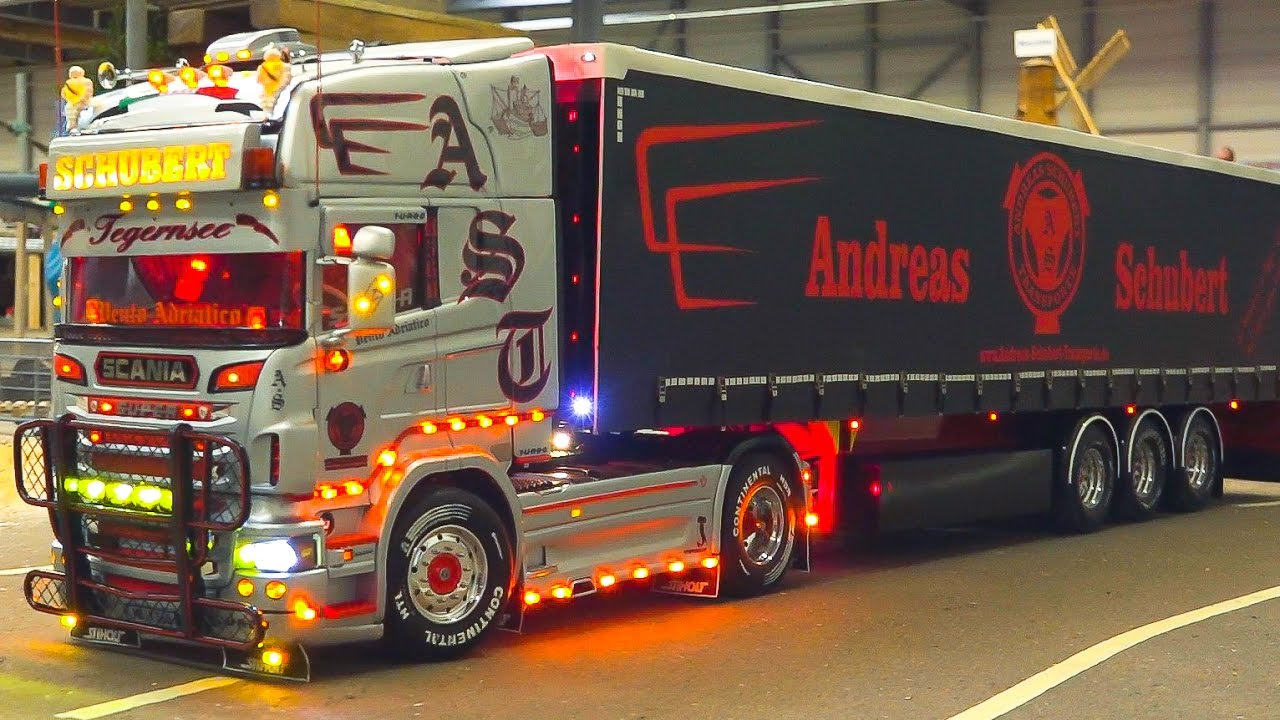 AMAZING RC MODEL TRUCK ACTION *SCANIA*MAN*MB ACTROS PART2 / Fair ...