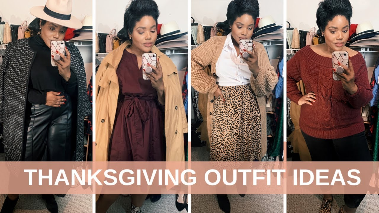 [VIDEO] - 5 BOMB THANKSGIVING OUTFIT IDEAS - PLUS SIZE | Rhonda Rawls 1