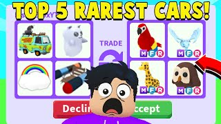I traded the 5 RAREST CARS in Adopt Me!