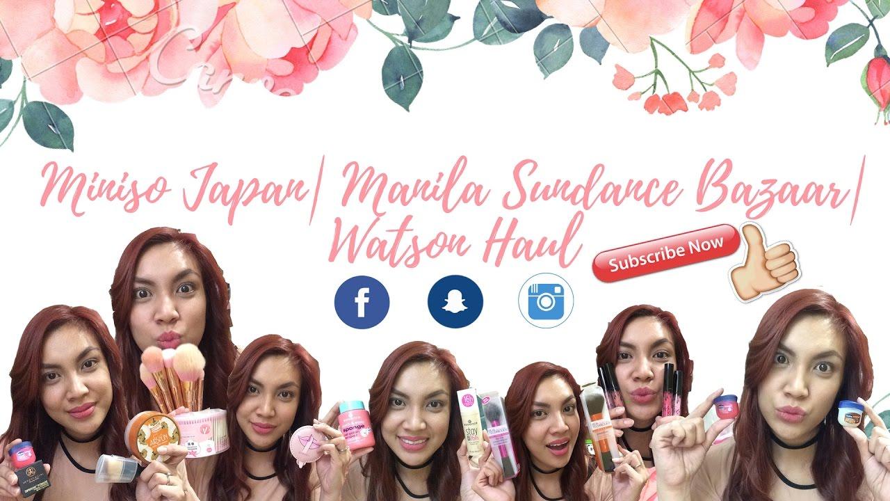 Miniso Japan Part I Manila Sundance Bazaar Watsons