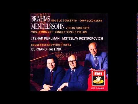 Brahms Double Concerto in A minor, Perlman, Rostropovich