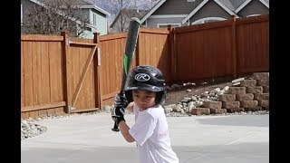 Batting Practice At Home | TigerFamilyLife~