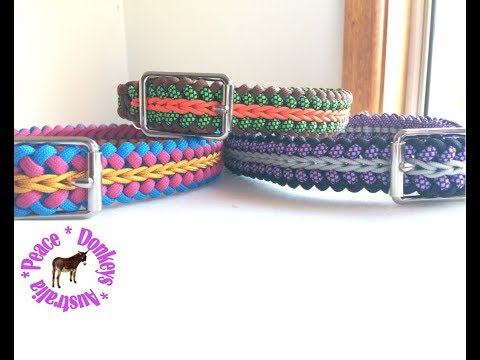 Modified sanctified adjustable dog collar with centre chain stitch (endless falls)