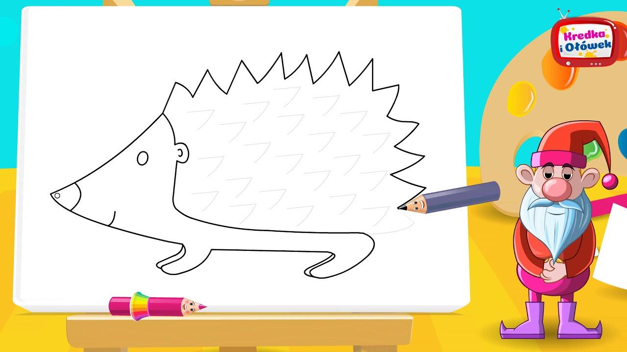 Jak narysować jeżyka Kolczyka?@Kredka i Ołówek - rysuj z nami!