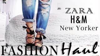 TRY ON HAUL! FASHION! Zara, H&M & New Yorker - März 2016