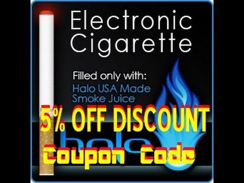 Halo Cig E-Cigarette Discount Coupon Code Buy Halo Electronic Cigarettes and USA E-Liquids.