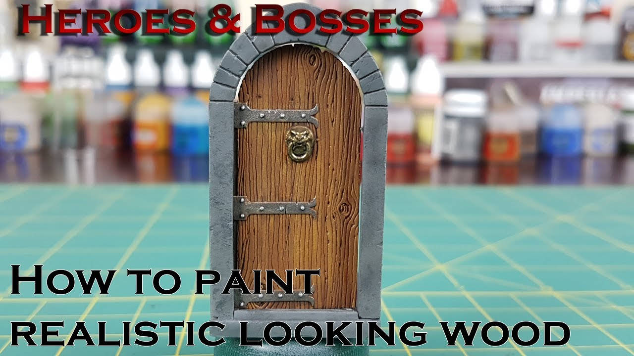Paint-tech 10 - How to paint realistic looking wood - YouTube