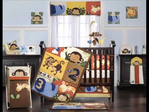 Kids Line Jungle 123 8 Piece Crib Set ; Boys Nursery Bedding Sets, Cheap Baby Cribs