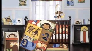 Kids Line Jungle 123 8 Piece Crib Set ; Boys Nursery Bedding Sets, Cheap Baby Cribs