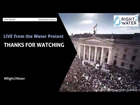 Irish Water Protest LIVE