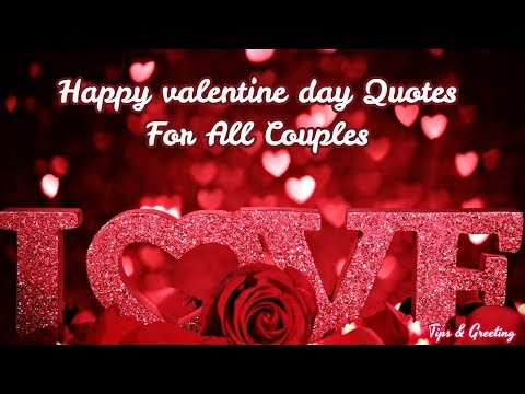 Happy valentine day For All Couples  || Beautiful Quotes For Love