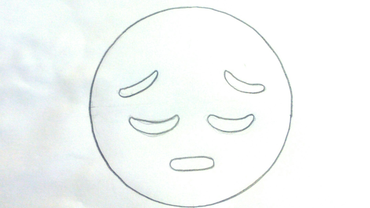 Cómo Dibujar Un Emoji Triste Para Niños Dibujo De Emoji Triste