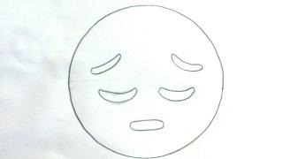 Cómo dibujar un Emoji Triste para niños | Dibujo de Emoji Triste