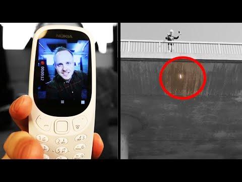 Slänger Nokia 3310 från bro - Test med nya modellen