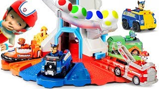 Learn Colors with Paw Patrol Beach Mission Pups Nickelodeon My Size Lookout Tower with Skye & Chase