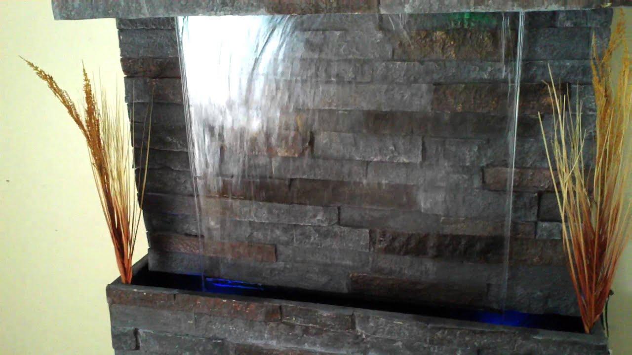 Fuente de agua muro de agua para colgar 1 metro x 1 metro youtube - Motor de fuente de agua ...