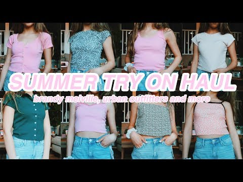 HUGE SUMMER TRY ON HAUL! brandy melville, urban outfitters, cupshe and more