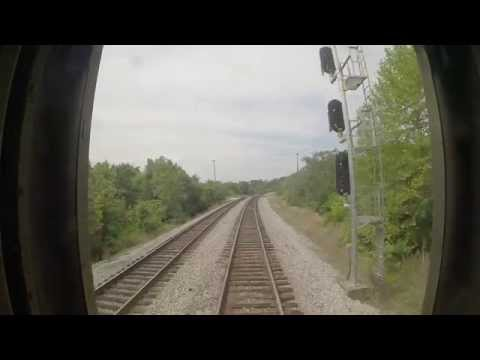 Amtrak Train 79 - Petersburg to Collier Yard Southbound Rear View