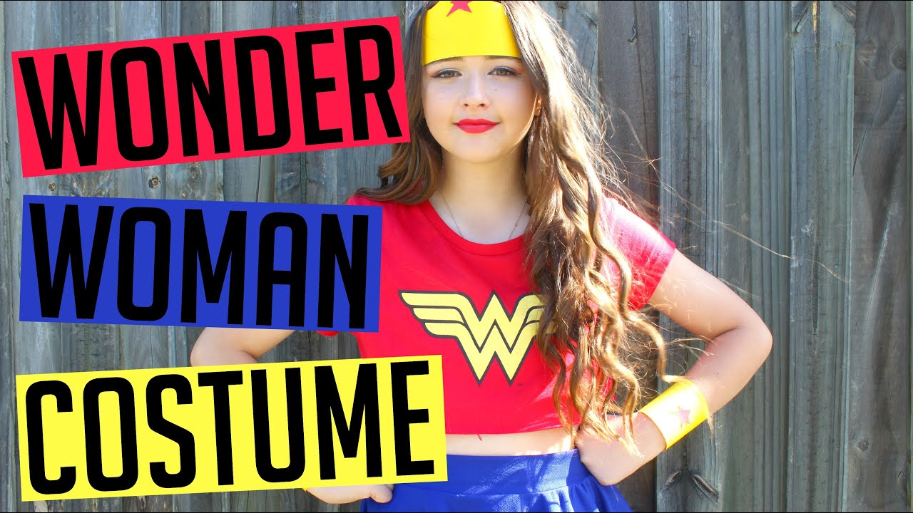 Diy Wonder Woman Halloween Costume - Youtube-6350
