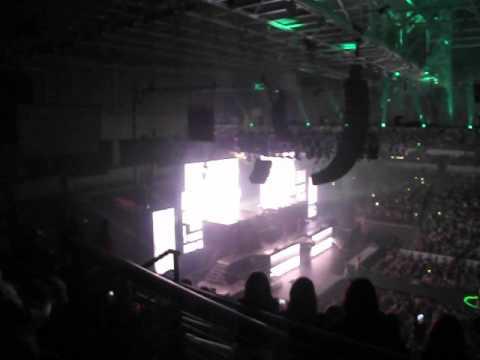 Justin Bieber entrance @ Little Rock, AR concert Jan 10 2013
