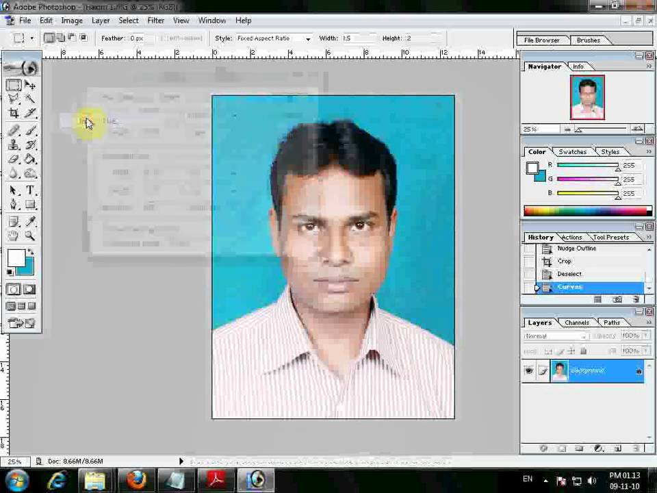 How to make Passport Size Photo.mp4 - YouTube
