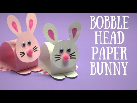 Bobble Head Paper Bunny | Easter Craft  Ideas