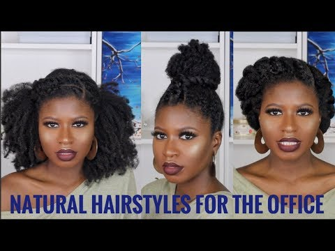 3 super quick/easy natural hairstyles for work type 4a4b