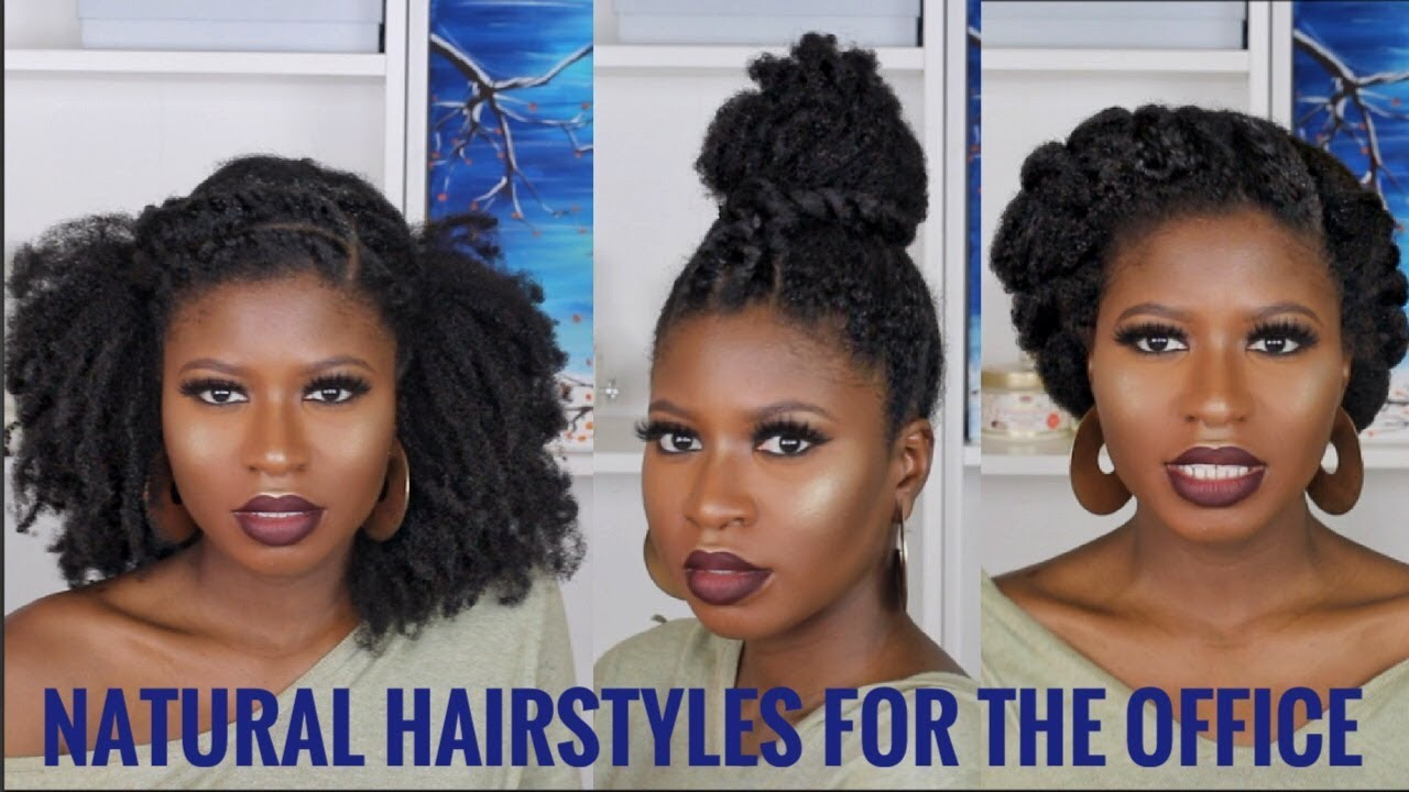 3 Super Quick Easy Natural Hairstyles For Work Type 4a 4b 4c Ft African Pride Moisture Collection Youtube