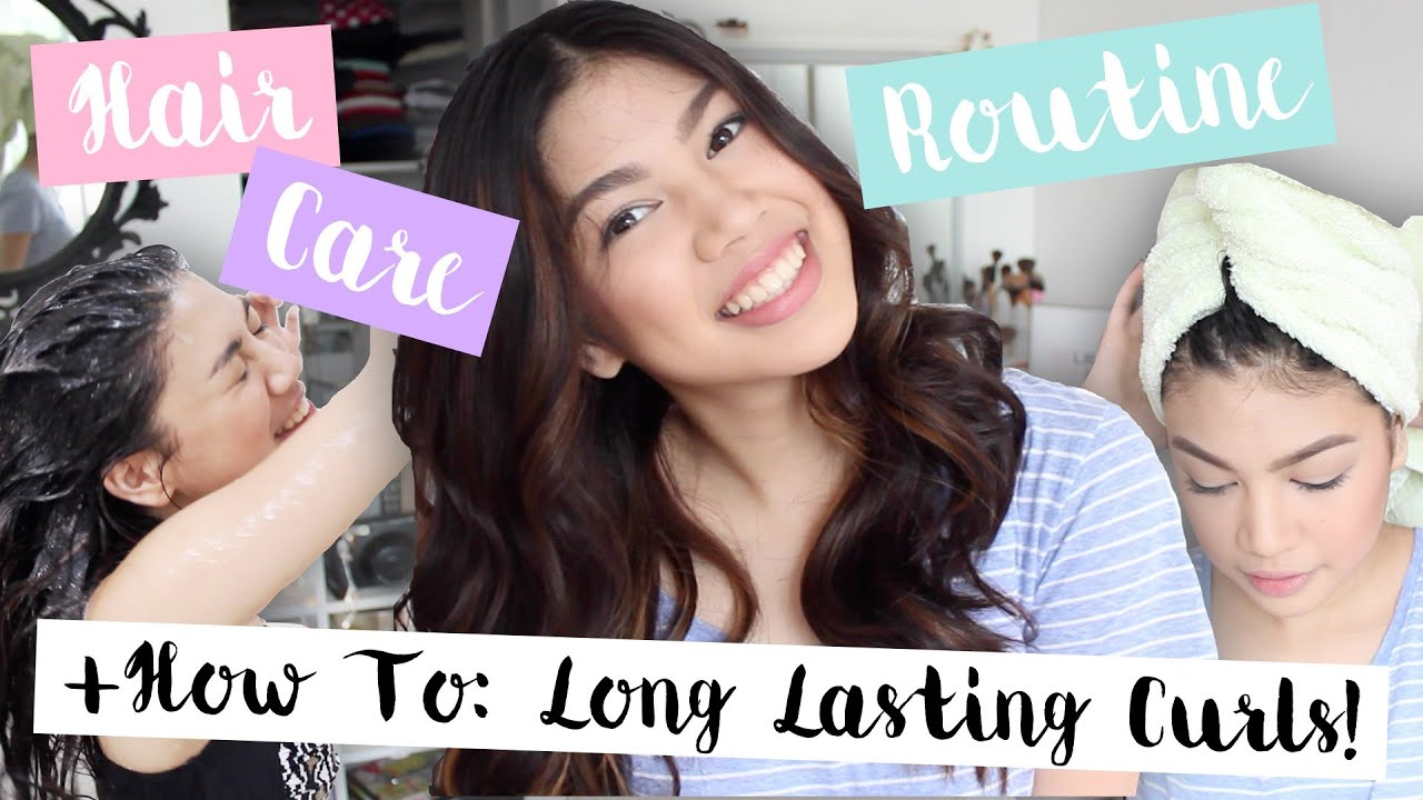 Hair Care Routine How I Make My Curls Last Long Philippines Janina Vela Youtube