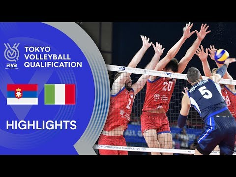 SERBIA Vs. ITALY - Highlights Men | Volleyball Olympic Qualification 2019