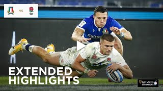 Extended Highlights Italy v England Guinness Six Nations