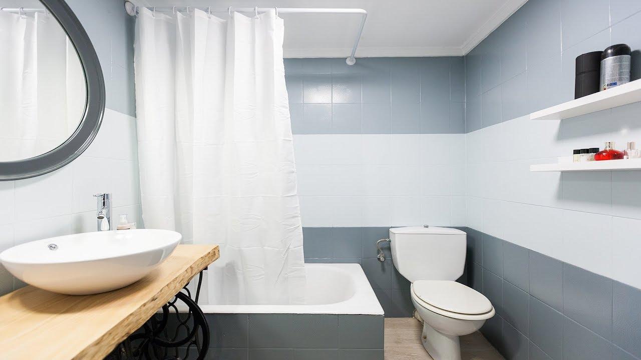 Cuarto de baño tricolor en gris - Programa completo - Decogarden ...