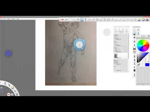 Art tutoring video with critiques