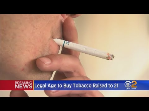 Legal Age To Purchase Tobacco Raised To 21
