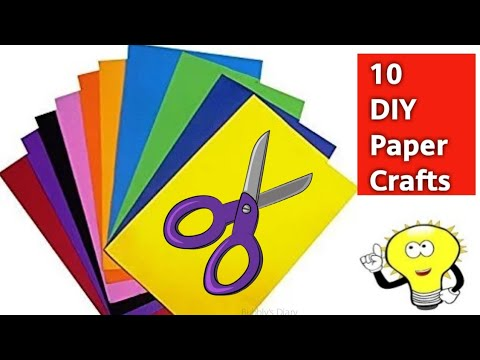 10 Paper Crafts Easy - Crafts With Paper - DIY Paper Crafts Ideas