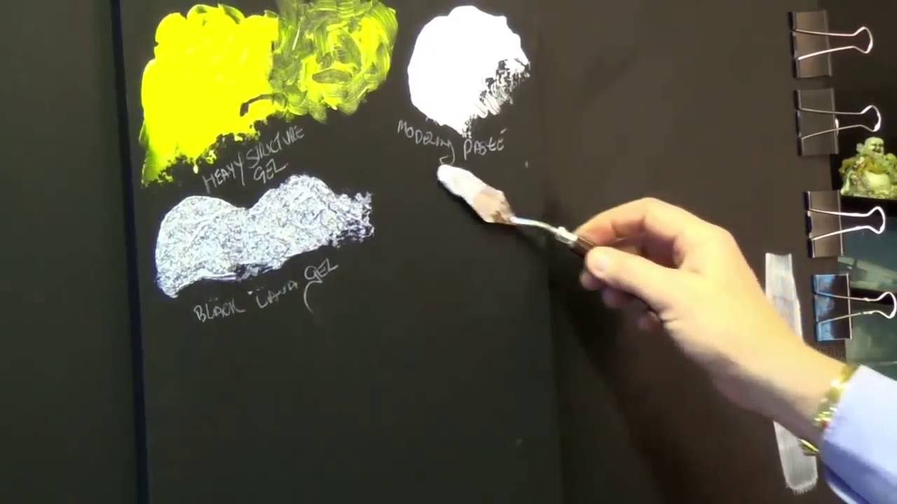 Glass Bead Texture Gel Acrylic painting clive5art YouTube
