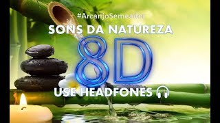 🎧 MÚSICA 8D PARA RELAXAR - 🎧 USE HEADFONES 🎧 Sons da natureza