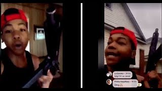 Chicago Goon Record Himself Having A Shootout With Opps...DA PRODUCT DVD