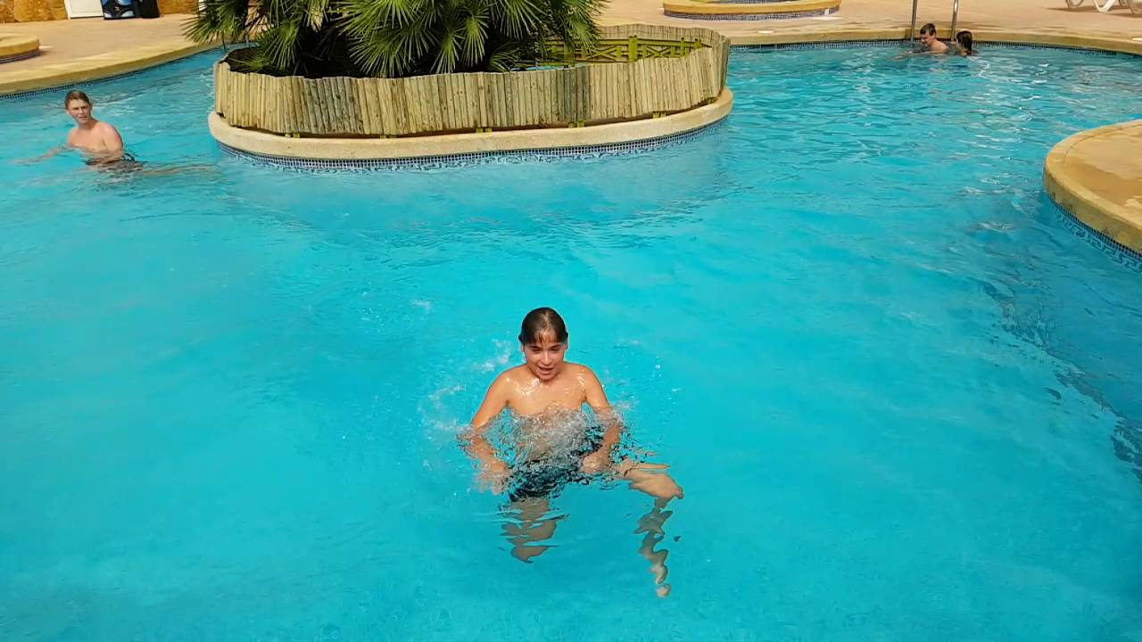 piscina camping cueva negra / centro vacacional macenas - youtube