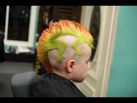 lizard mohawk cut color