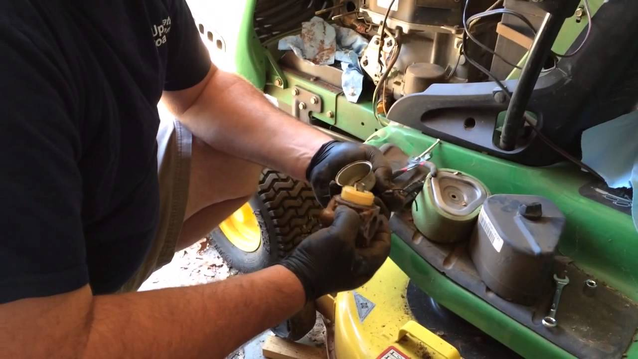 How to Clean Lawnmower Carburetor John Deere LT155  YouTube
