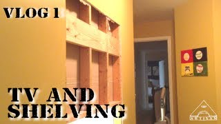 Installing A Wall Mounted Tv And Shelving Unit - Vlog #1