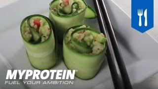 How to Make Sushi - Sushi Cucumber Rolls - Healthy Food Low Carb Recipes from Myprotein